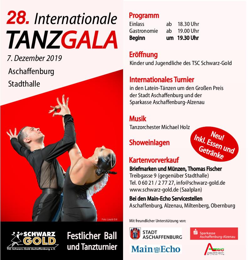 Gala - Tanzschule & Tanzsportclub Schwarz Gold Aschaffenburg