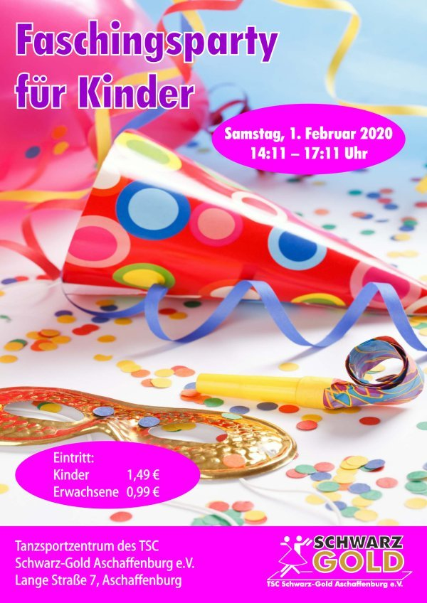Faschingsparty für Kinder 2020